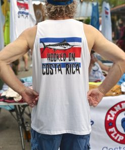Mens Hooked on Costa Rica Tank Top