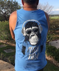 Mens Pura Vida Monkey Tank Top