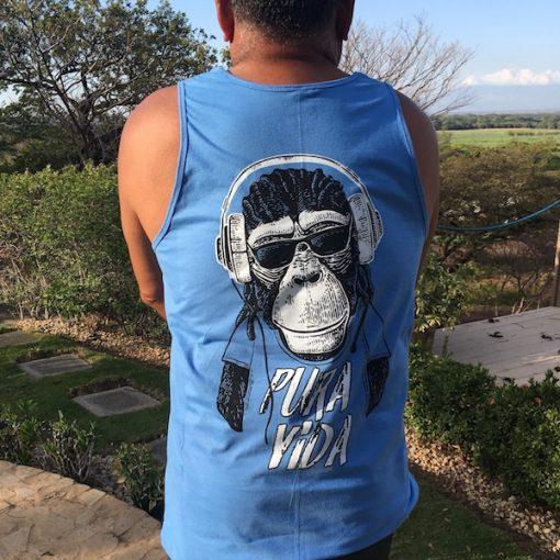 Mens Pura Vida Monkey Tank Top
