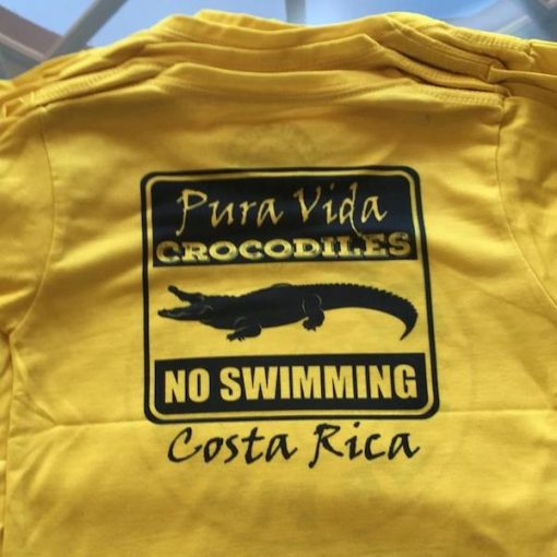 Kids Yellow Crocodile Tee Shirt